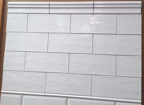 4 1 4 X 10 U S C T Maiolica White Ceramic Subway Tile On Sale 2 75 Per Sq F White Subway Tile Bathroom Subway Tiles Bathroom Ceramic Subway Tile