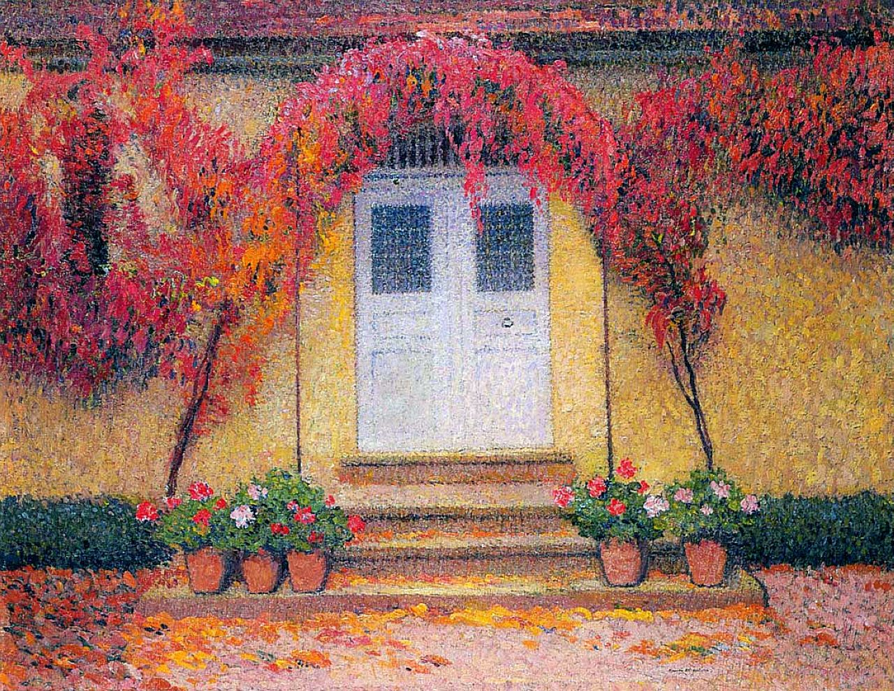 Henri Martin - The entrance of the gate in Marquayrol