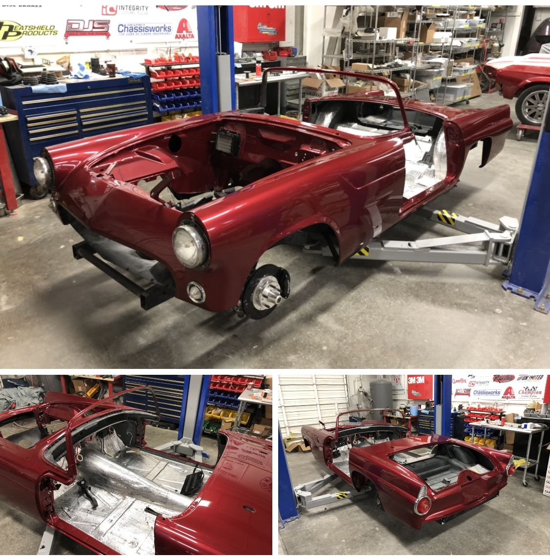1955 Thunderbird Restomod Restoration Is In The Build Shop And Looking Good Almost Time For The Coyote Moto Classic Cars Muscle Custom Metal Fabrication Foose