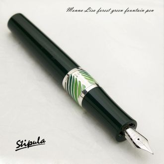"New work! Da Vinci ""Mona Lisa Smile"" fountain pen forest green M/14 gold Capless system adopted a breakthrough!"