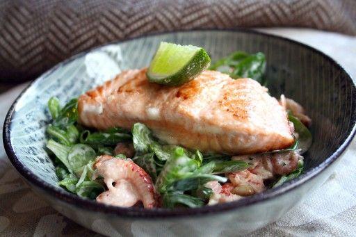 Salmon lime mayonaise
