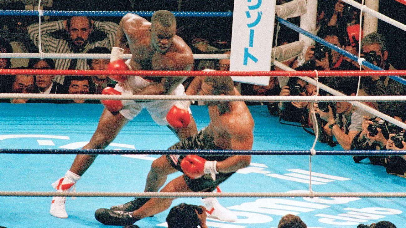 On This Date Douglas Ko S Tyson Espn Video In 2020 Mike Tyson Tyson Ufc Boxing