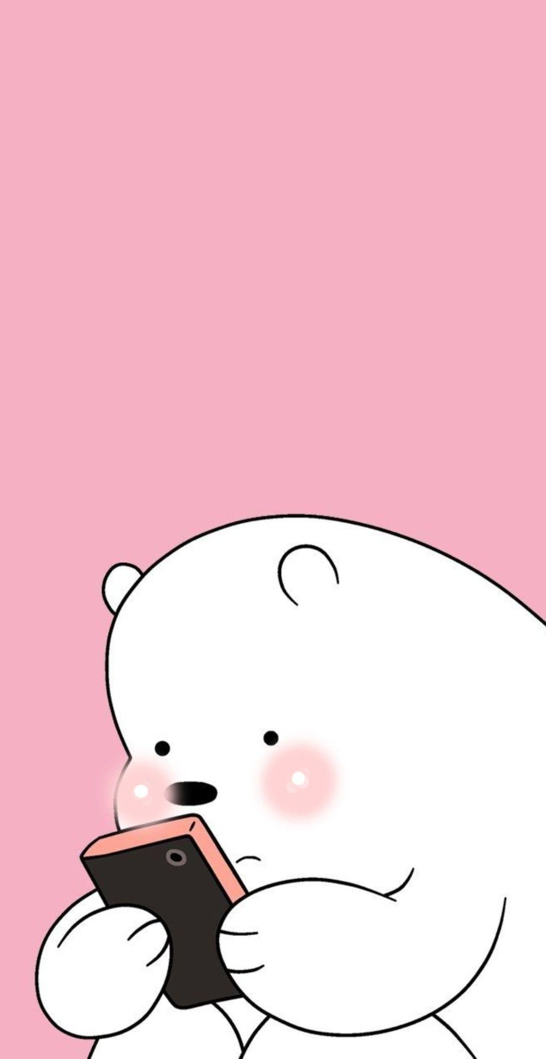 We Bare Bears Icebear Cute Webarebears Icebear Cute Kartun Animasi Gambar Hewan Lucu