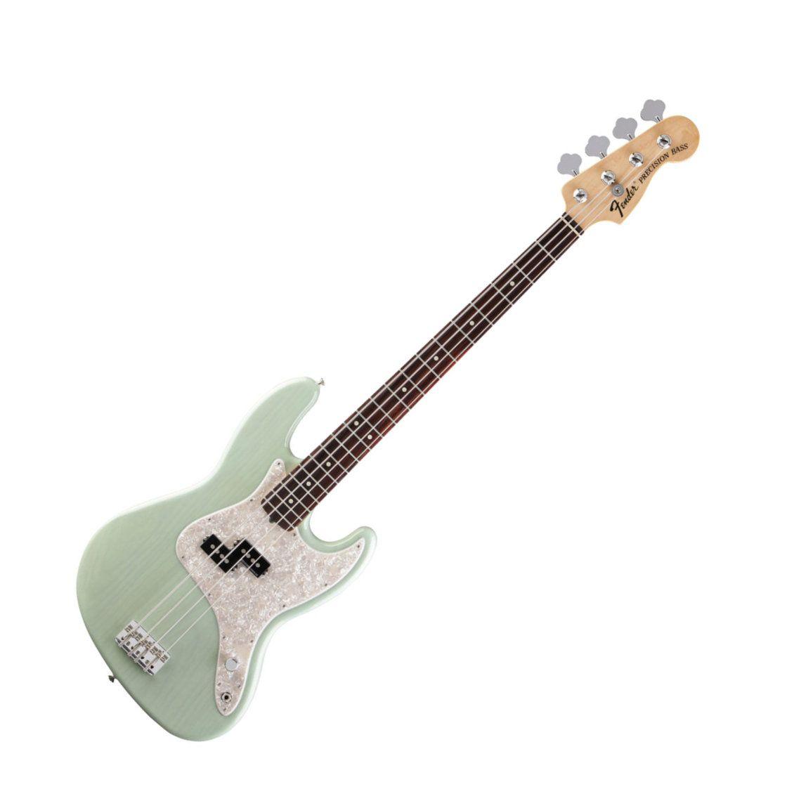 Fender Mark Hoppus Bass In Surf Green Transparent