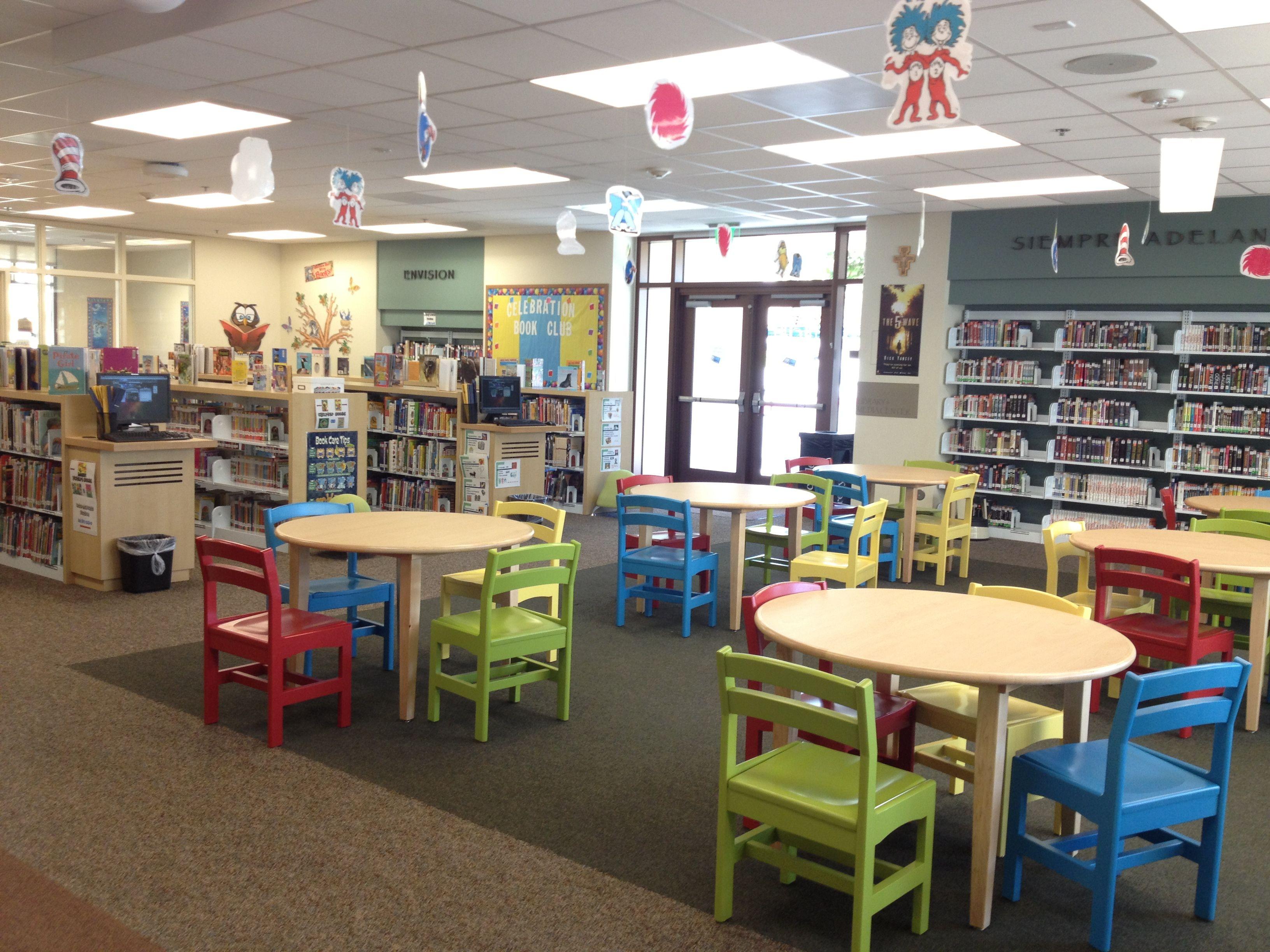 Serra Catholic School Library Furniture, I love the chairs ...