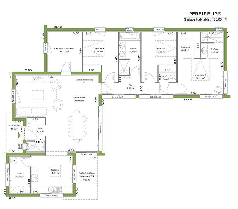 Villa de plain-pied Foyers