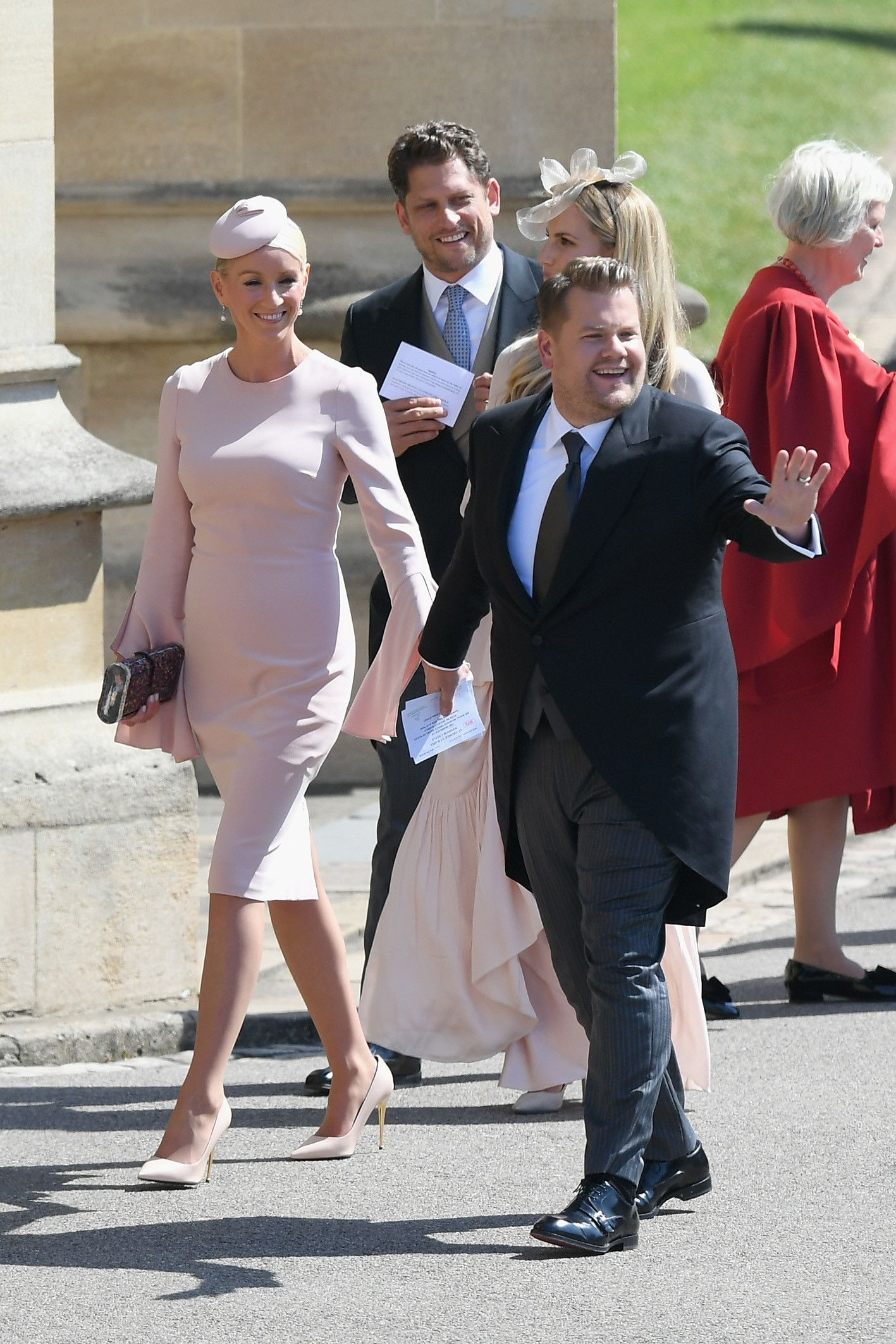 British Comedian James Corden Arrived At The Royal Wedding With Julia Carey His Wife Of Five Years Like Prince William A Royal Wedding Wedding Wedding Attire [ 2125 x 1417 Pixel ]
