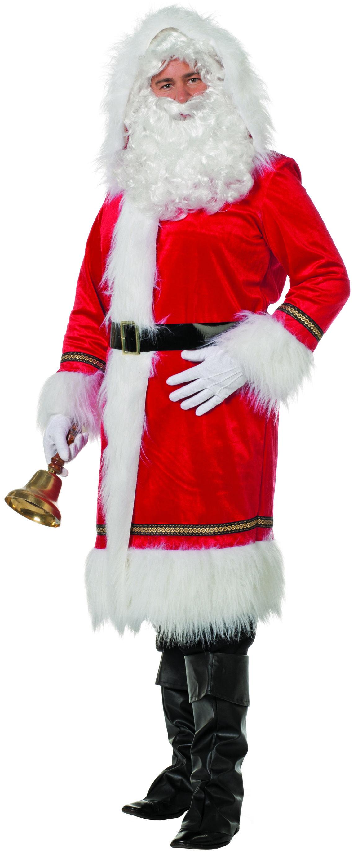 Santa Luxus Mantel Nikolaus Kostüm Weihnachtsmann Gr. 58 3XL groß