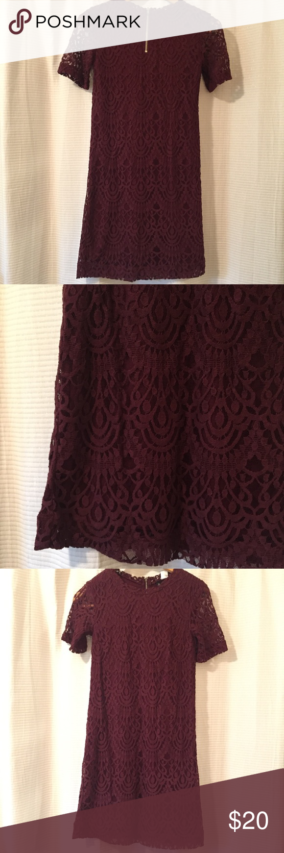 Maroon lace dress such a pretty dress perfect for a wedding or