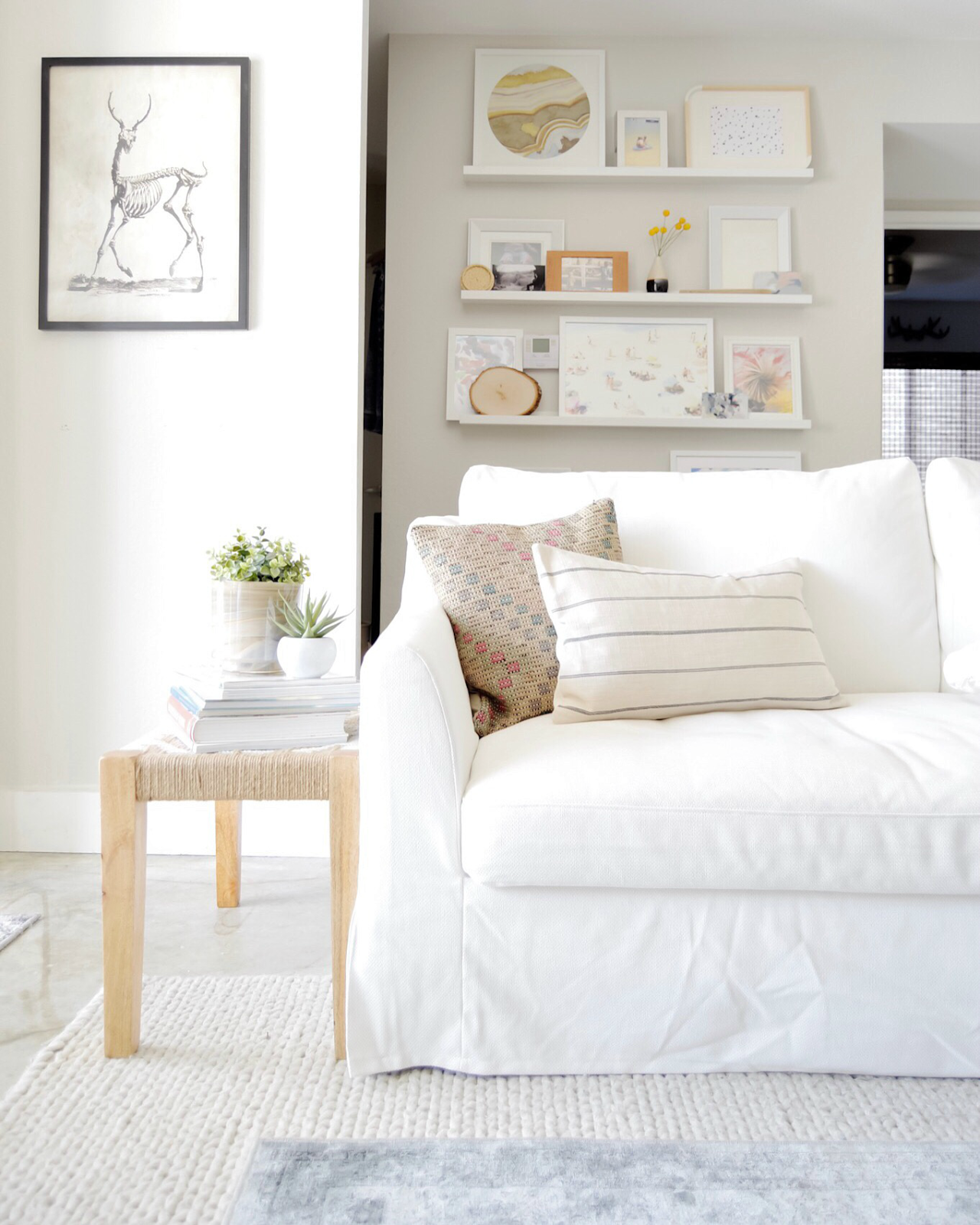 White Couch Living Room Decor: On Base Dream Home In 2019