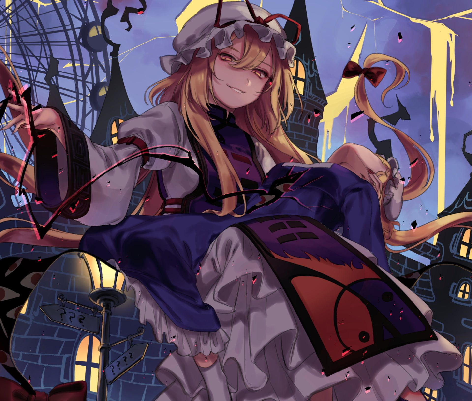 Anime Touhou Maribel Hearn Yukari Yakumo 1080p Wallpaper Hdwallpaper Desktop Anime Art Fantasy Anime Anime Artwork Wallpaper