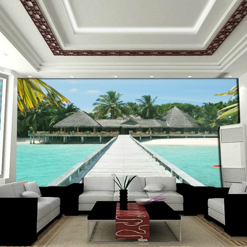 Background wallpaper mural tv wall painting waterproof for Waterproof wallpaper for walls