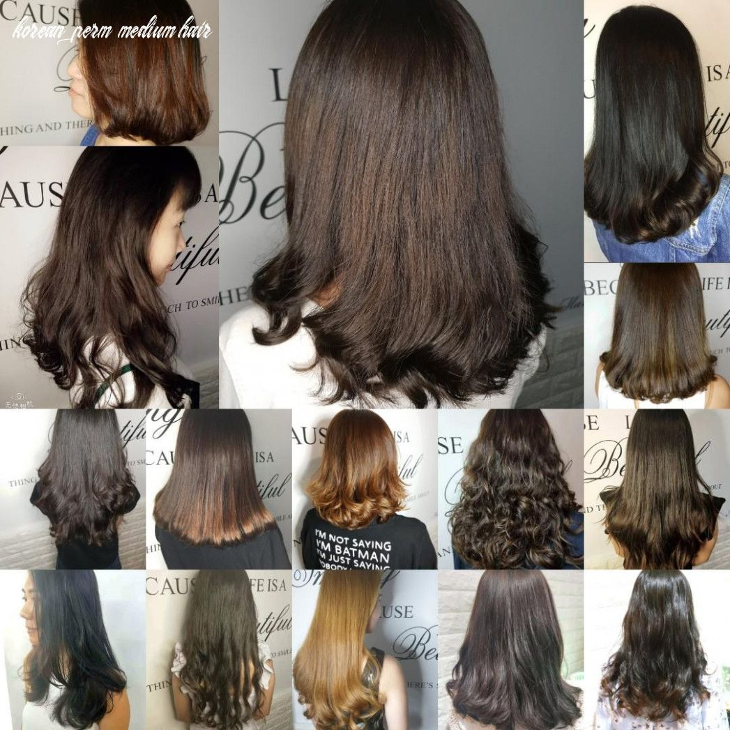 11 Korean Perm Medium Hair in 11  Medium hair styles, Korean