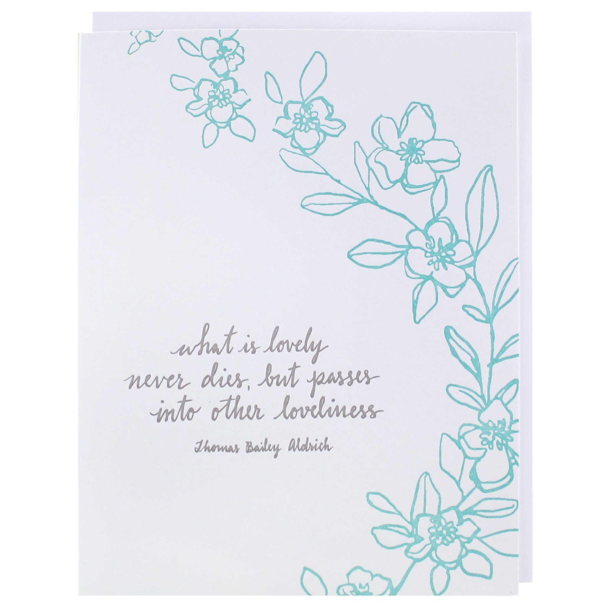 Loveliness Quote Sympathy Card Sympathy Cards Free Printable Greeting Cards Card Template