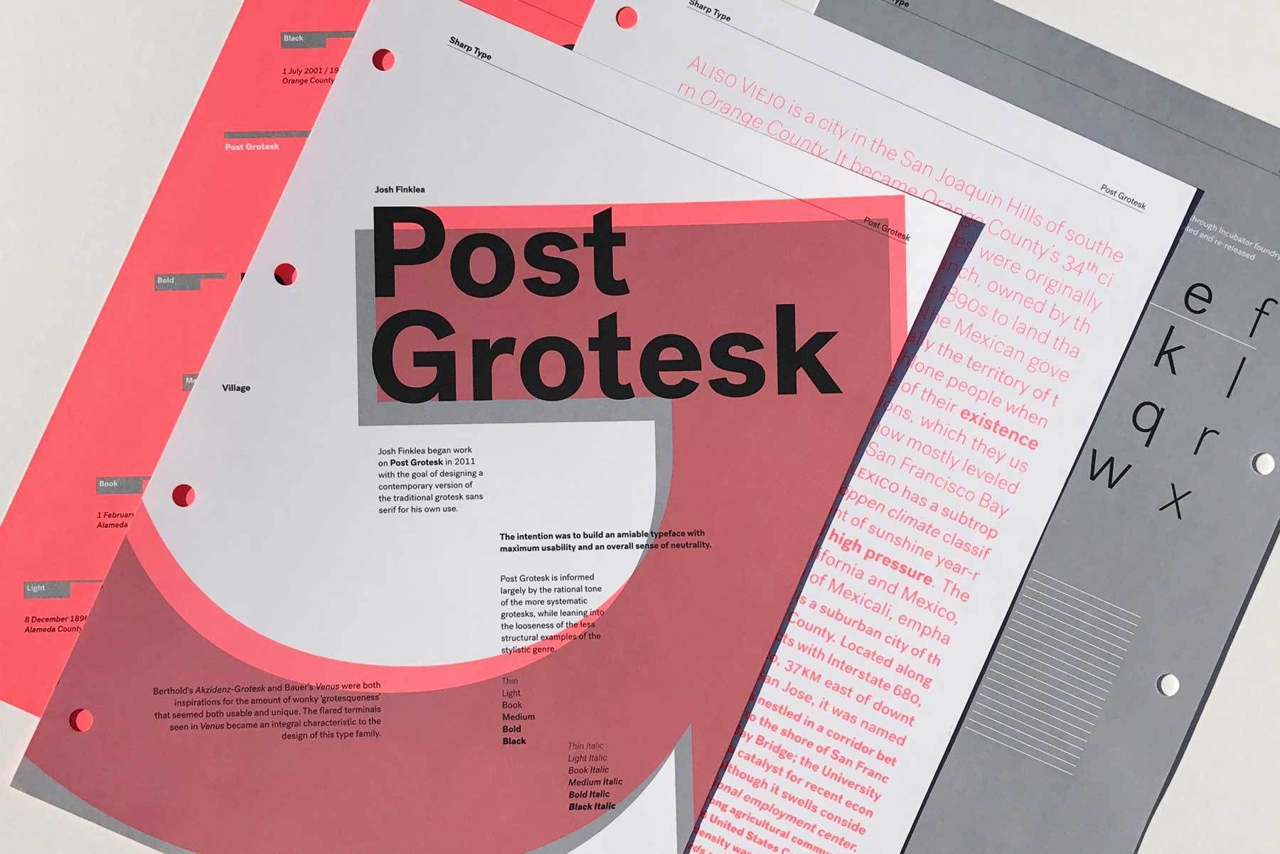 Post Grotesk expands to include two new weights in roman