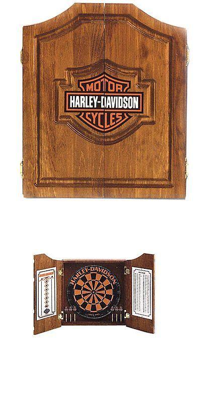 Dart Boards 72576: Harley Davidson Dart Board Cabinet  U003e BUY IT NOW ONLY