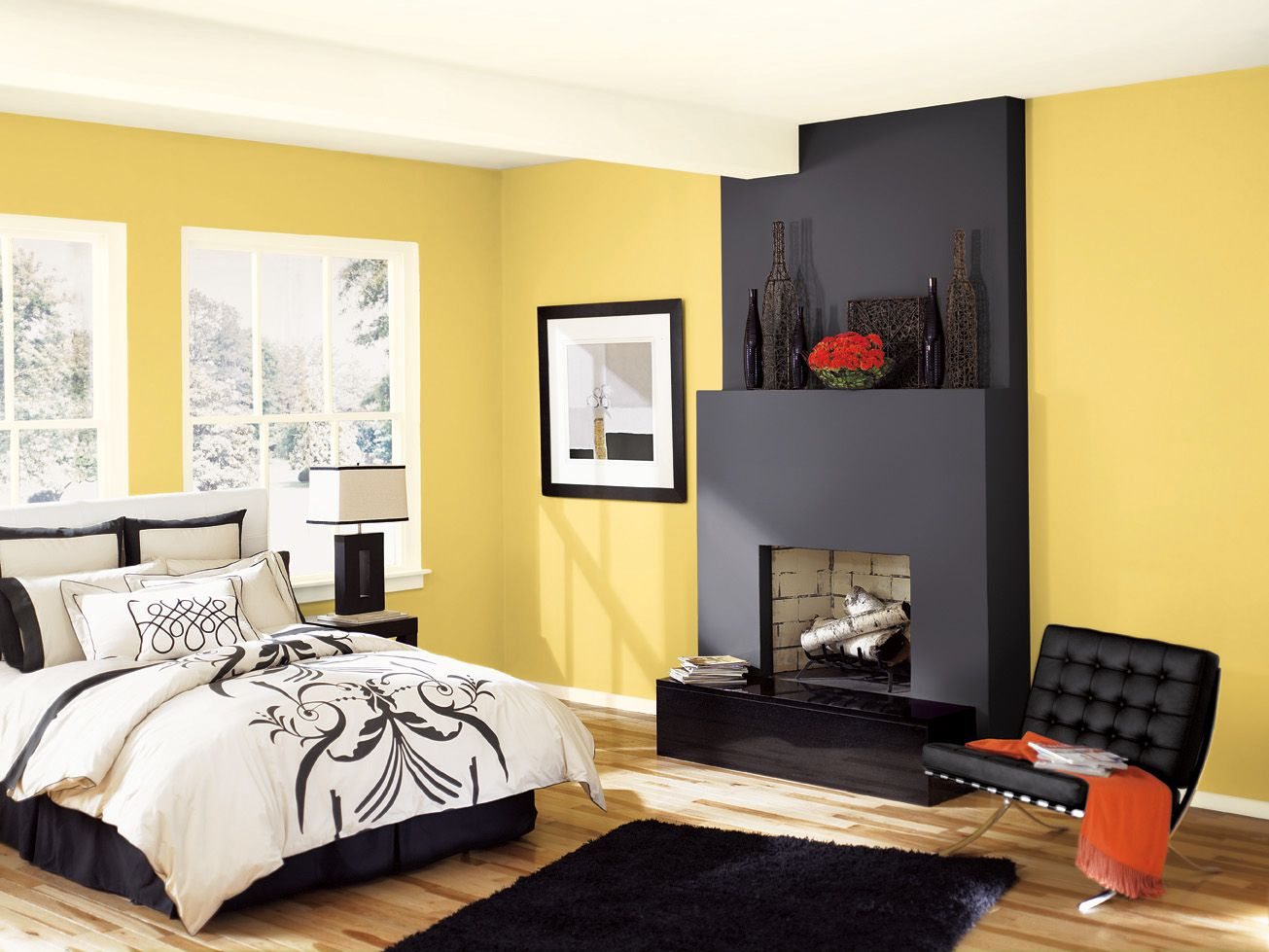 This color w black cabinets benjamin moore hc 11 for Gold paint bedroom ideas