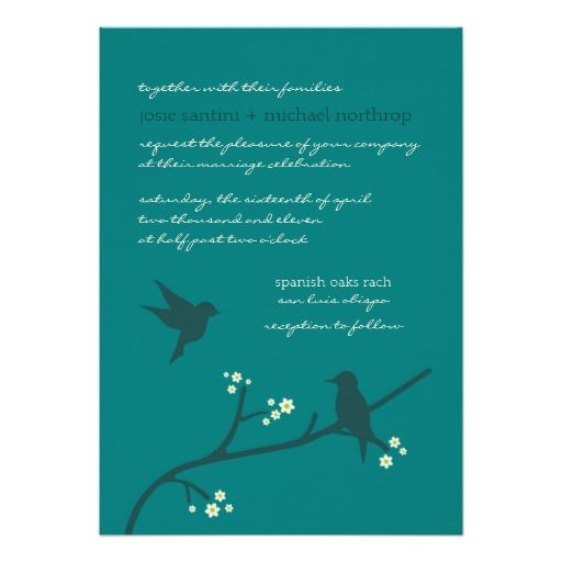 Love's Flight {Peacock} Invitations