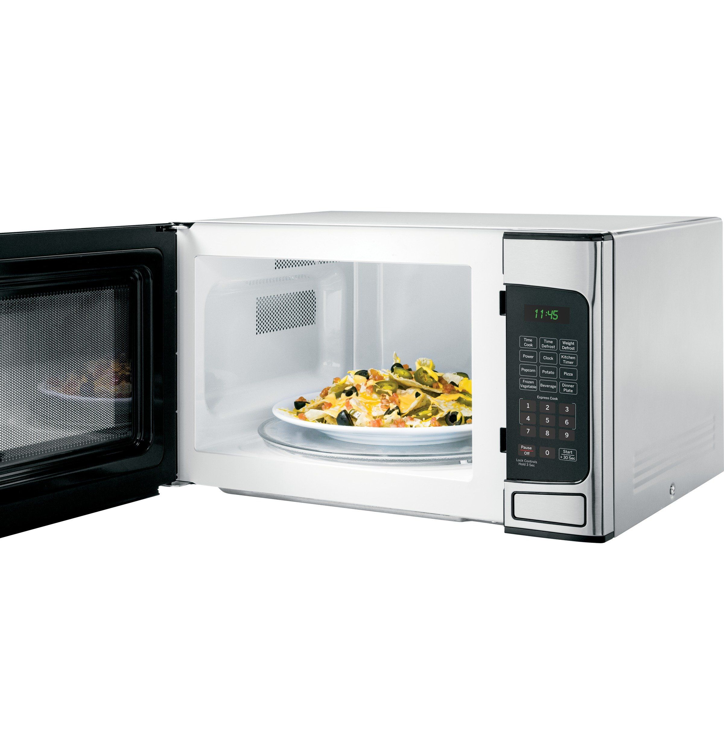 GE 1.1 cu ft Countertop Microwave Oven, Stainless