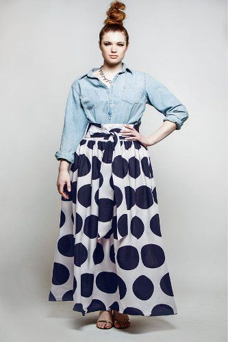 Looking Adorable with plus size Long Skirt | Plus Size Fashion ...