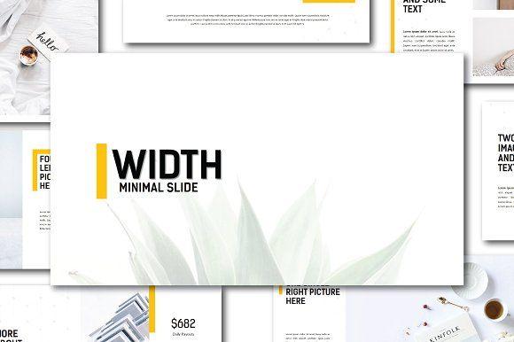 Width Minimal Powerpoint Template by onestudio on @creativemarket ...