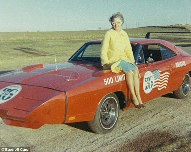 1969 DODGE CHARGER DAYTONA w// WING SPOILER CAR Vintage Look REPLICA METAL SIGN