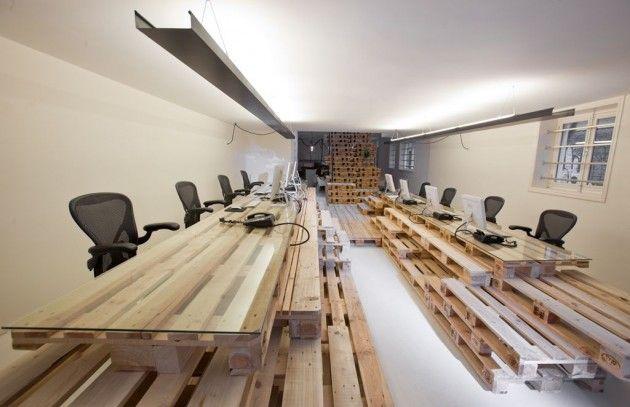 Bureau fait maison en palette table en palette idées pour