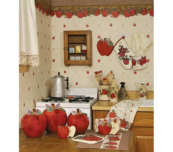 attractive Apple Decor For Kitchen #9: Blonder Home Country Apple Kitchen Decorating Theme