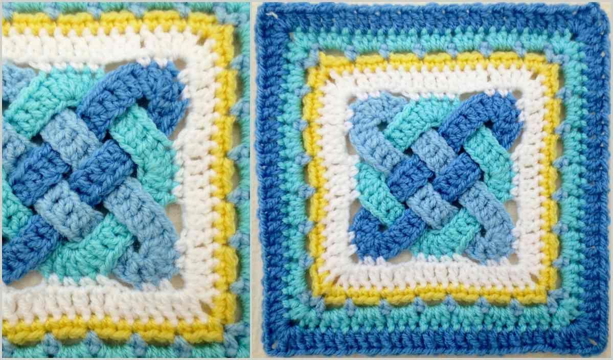 Celtic Knot Squares Free Crochet Pattern   Knitting ...