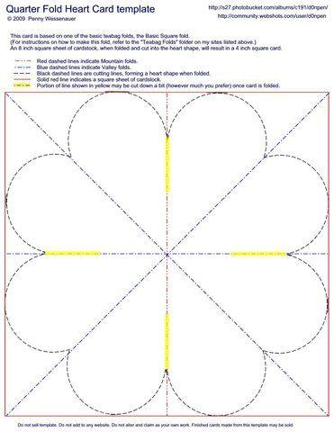 Quarter Fold Heart Card Photo By D0npen Fancy Fold Cards Fun Fold Cards Heart Cards
