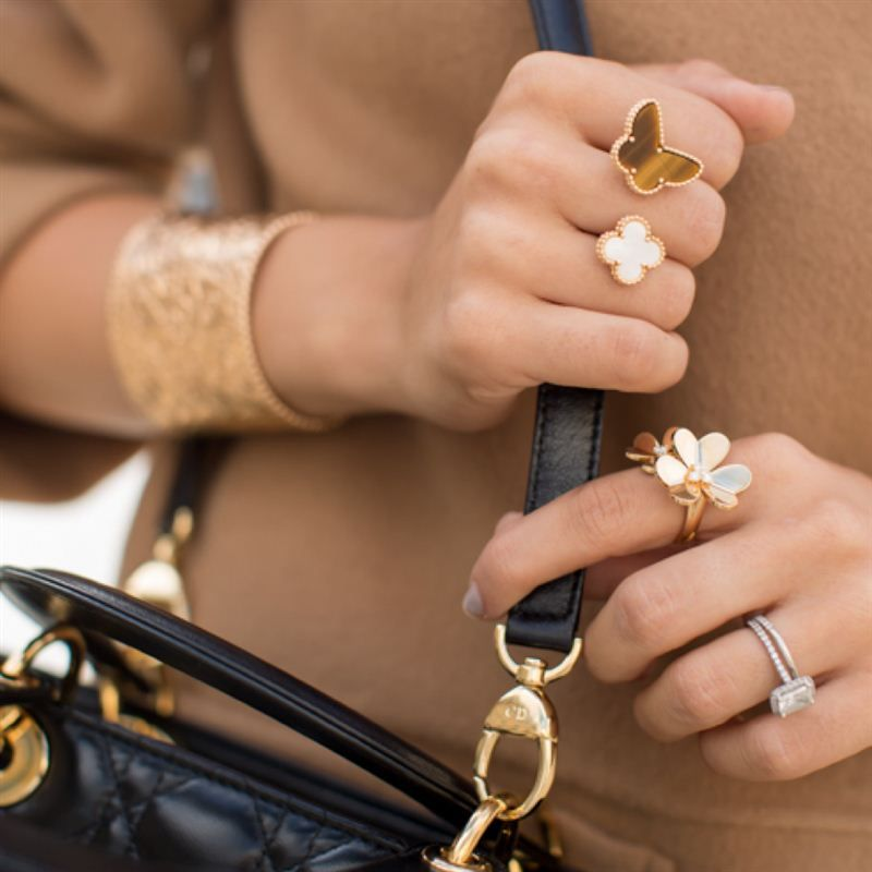 Girl Meets Glam picked out this beautiful yellow gold multi-finger ...