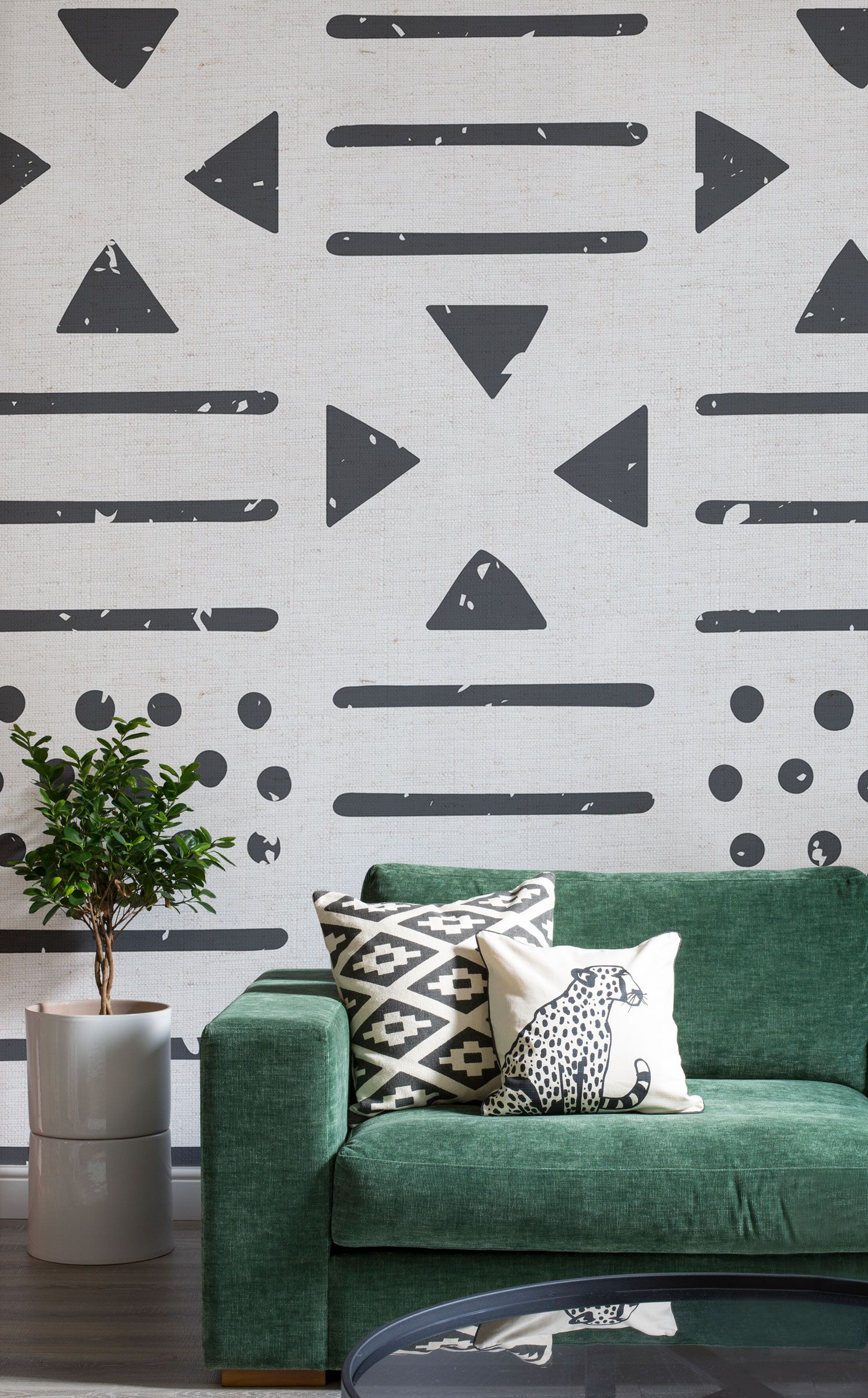 Large Tribal Canvas Pattern Wall Mural   Pinterest   Living rooms ...