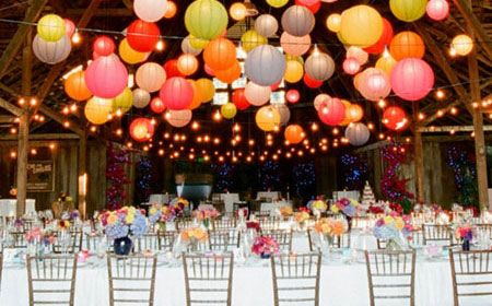 Bright colorfull wedding decorations wedding diy bright colorfull wedding decorations wedding diy pinterest paper lanterns reception and weddings junglespirit