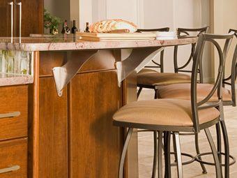 Granite breakfast bar with Alpine Brackets! | Countertop ...