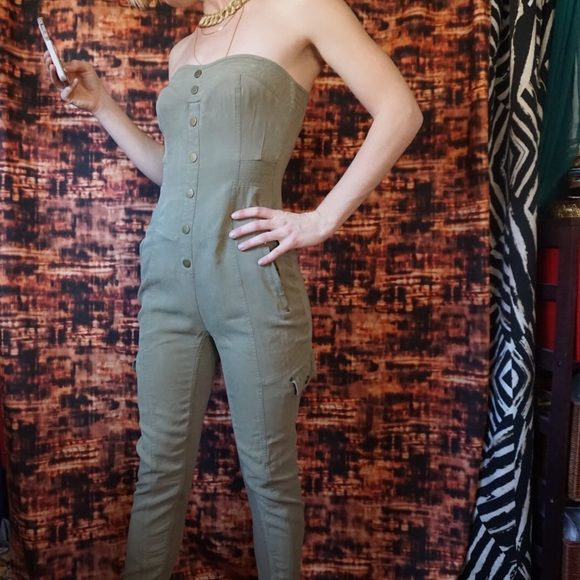 Bebe silk jumpsuit Sexy Bebe jumpsuit. Shell is %100 silk. bebe Other