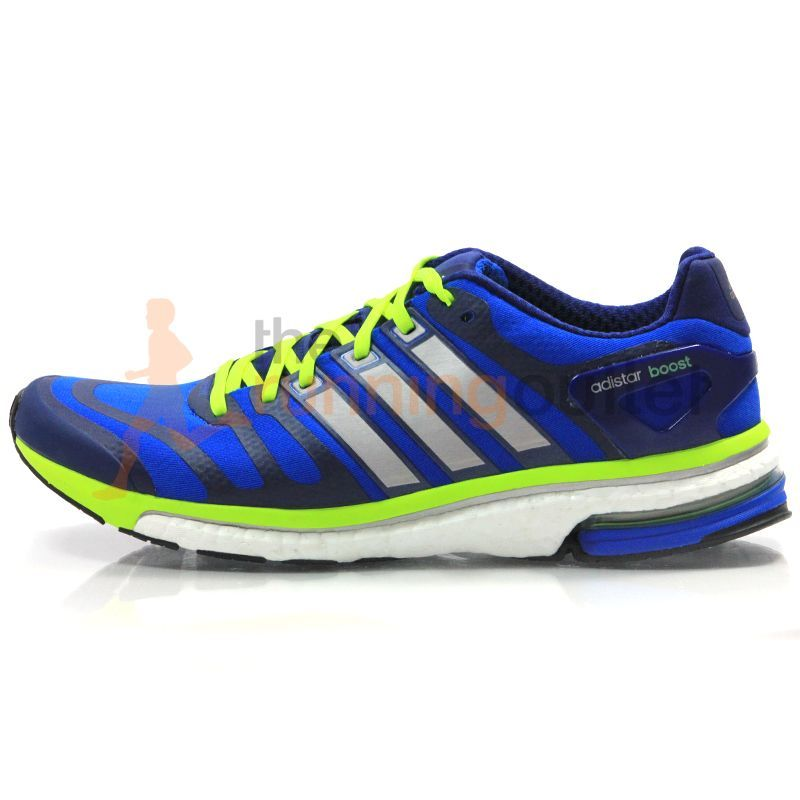 Adidas Men S Adistar Boost Running Shoe Aw13 Blue Beauty Tech Silver Electricity Running Shoes Running Shoes For Men Adidas Running Shoes