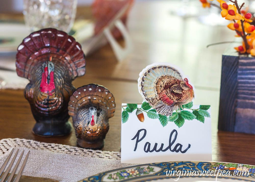 Thanksgiving Place Setting Ideas #thanksgivingtablesettingideas