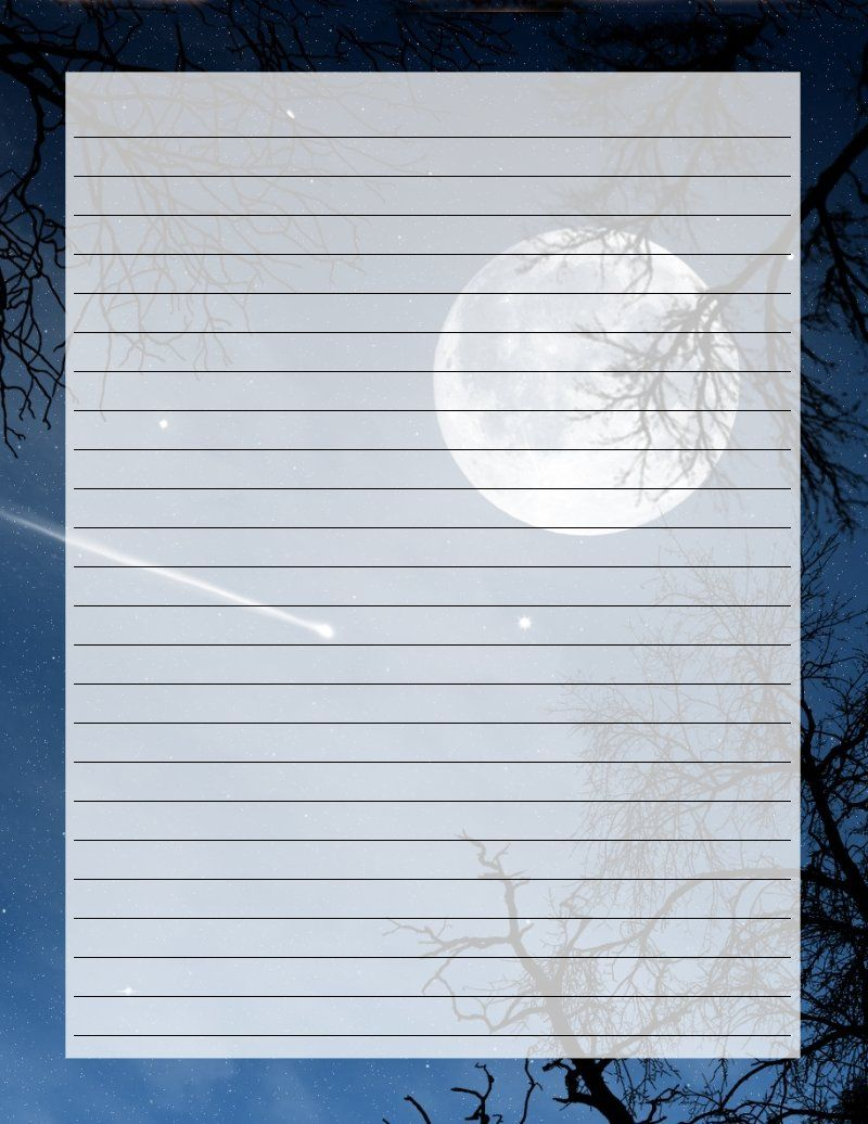 Shooting Star Printable stationery, Letter paper