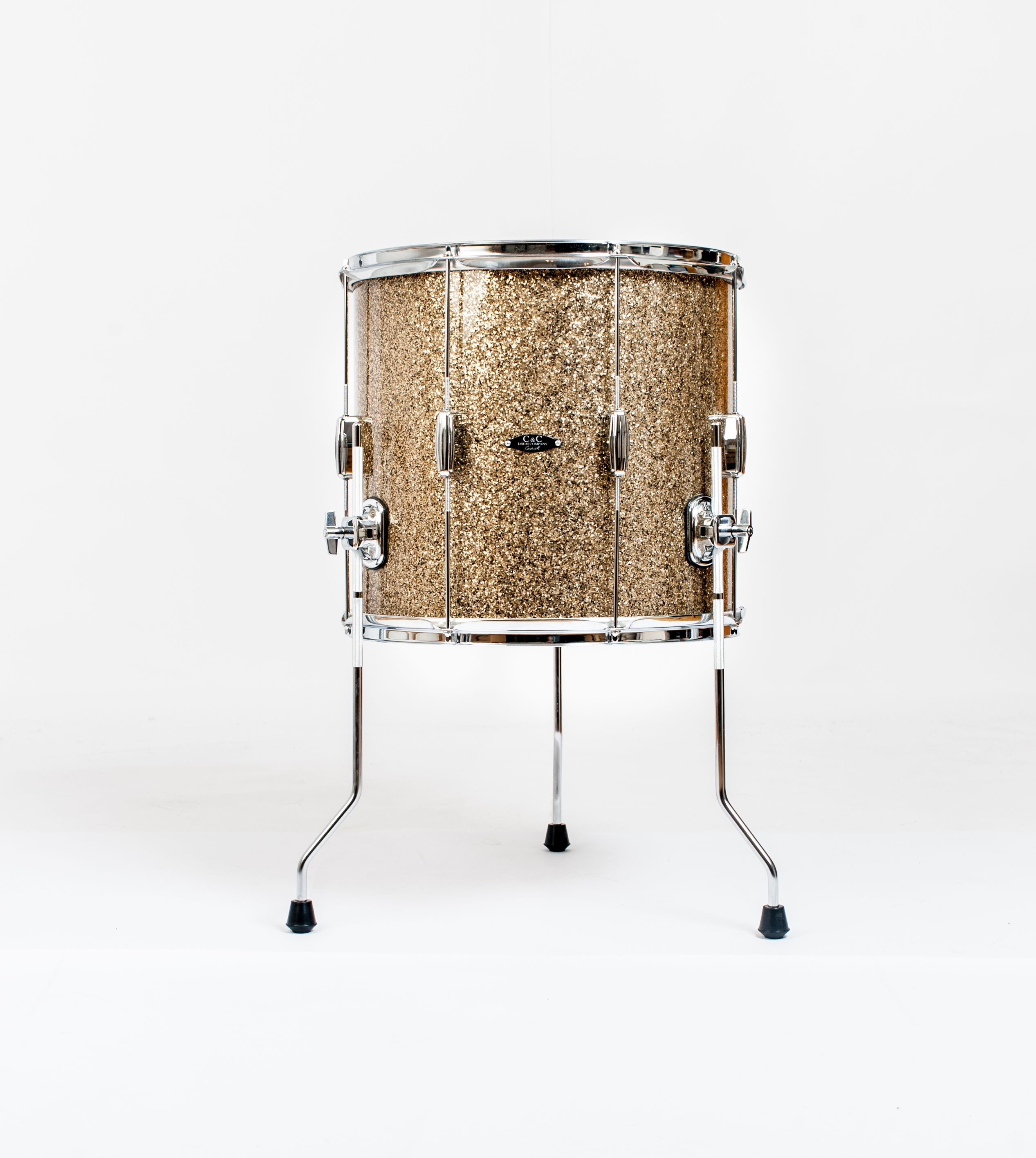 C&C Drums Europe - Vintage Drums - Player Date Europe - Ginger Glass Glitter - Floor Tom www.candcdrumseurope.com