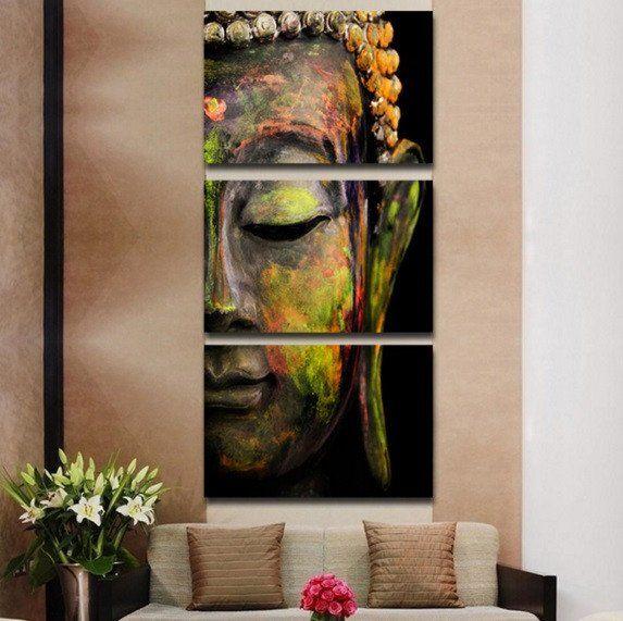 Artistic Buddha Canvas 3 Pcs Wall Art | Wish list | Pinterest ...