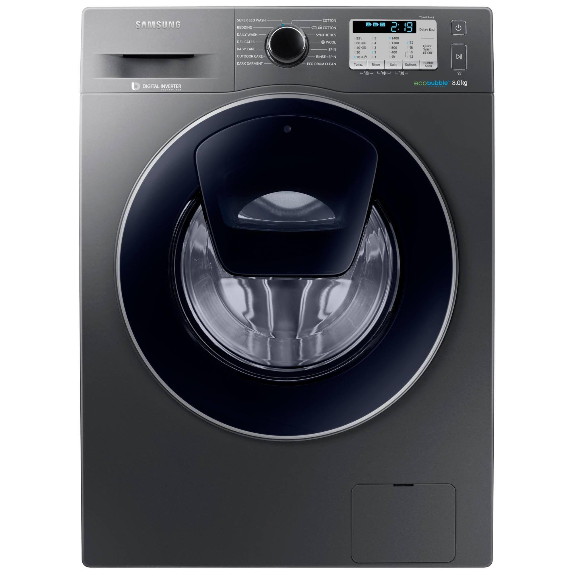 Samsung WW80K5413UX Front-Loading Washing Machine - 8 kg - Inox ...