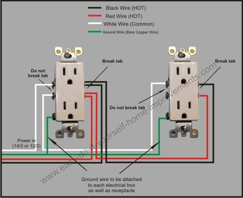 Split Plug Wiring Diagram Outlet Wiring House Wiring Home Electrical Wiring