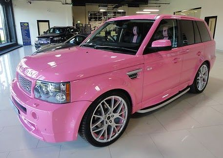 Pink range rover ♥ Yes please! Its a must have.