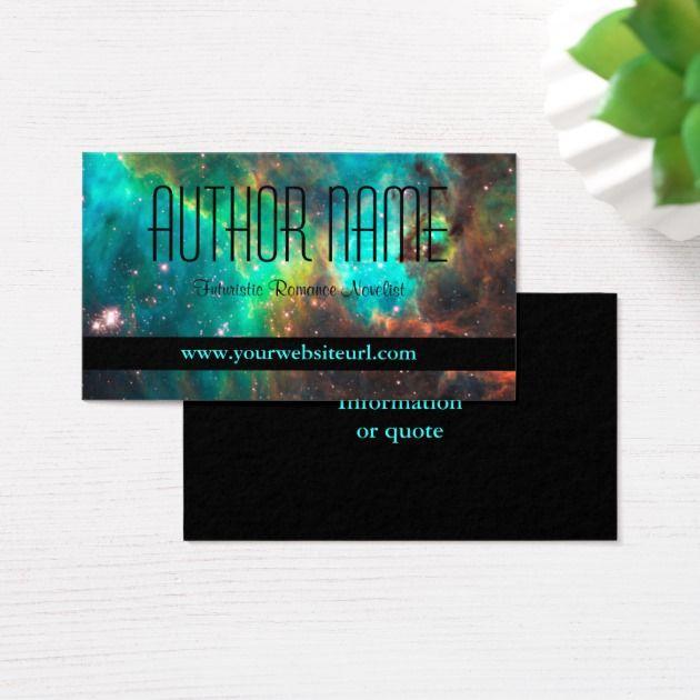 Carte De Visite Futuriste Ou Sci Fi D Auteur Zazzle