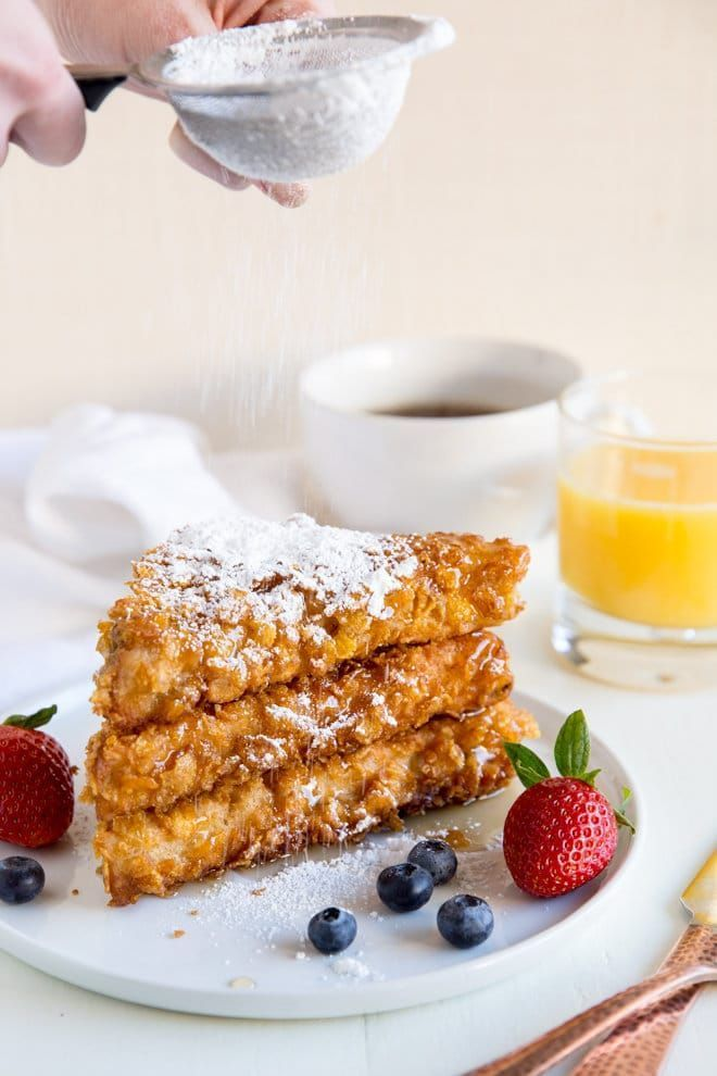 Cornflake Crusted French Toast Recipe | Culinary Hill