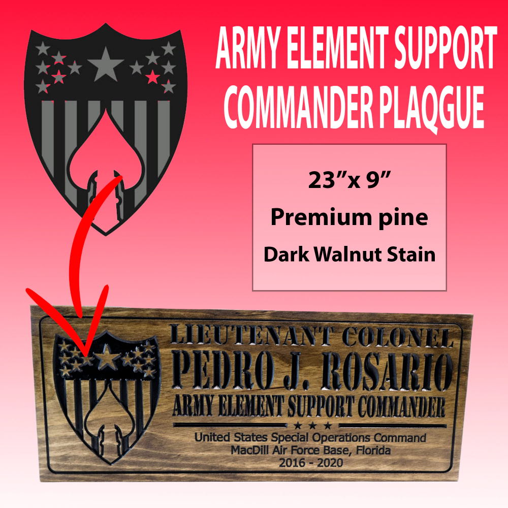 ARMY ELEMENT SUPPORT COMMANDER SIGN in 2020 Military