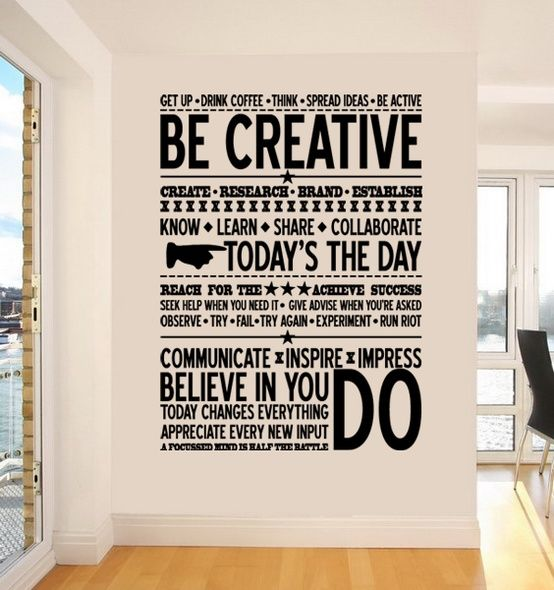 Office Wall Inspiring Message With Typographic Treatment