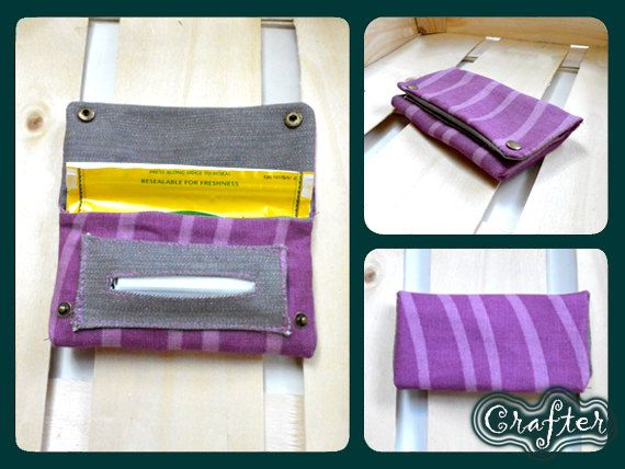 Pink Purple Cotton Tobacco Pouch Rolling Cigarets Tobacco Case Purse by CrafterElena on Etsy