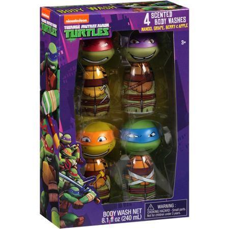 Nickelodeon Teenage Mutant Ninja Turtles Scented Body Washes Bath Gift Set,  4 Pc #tmntnicklodeon