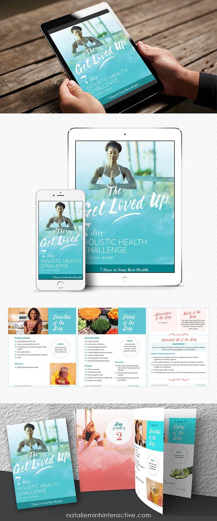 Koya Webb 7 DAYS HOLISTIC HEALTH CHALLENGE Ebook Design by